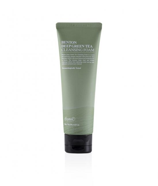 Benton Deep Green Tea Cleansing Foam 120g