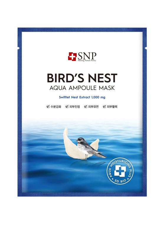 Шийт маска SNP Bird's Nest Aqua Ampoule Mask
